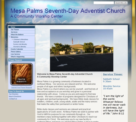 Mesa Palms Seventh-day Adventist Church - Home
